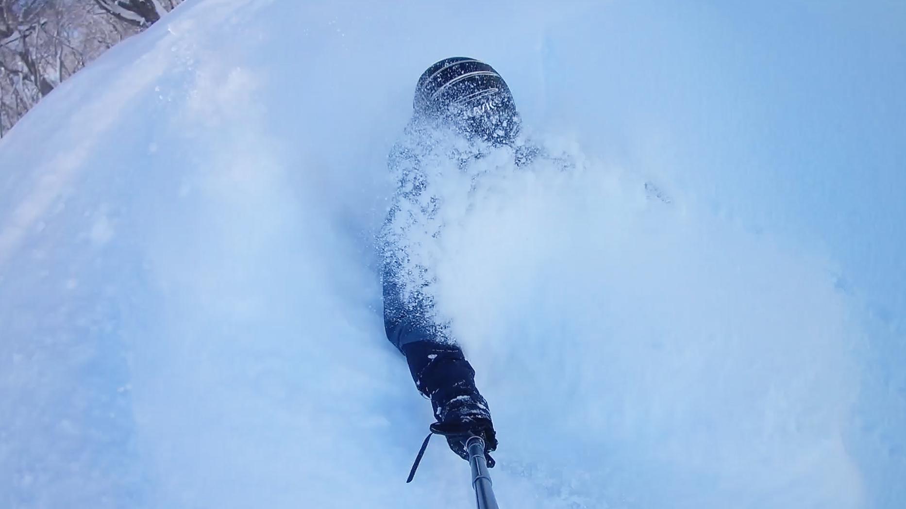 すんご〜く晴れたので久しぶりにアクションカムゲットしてパウダー滑ってみました!